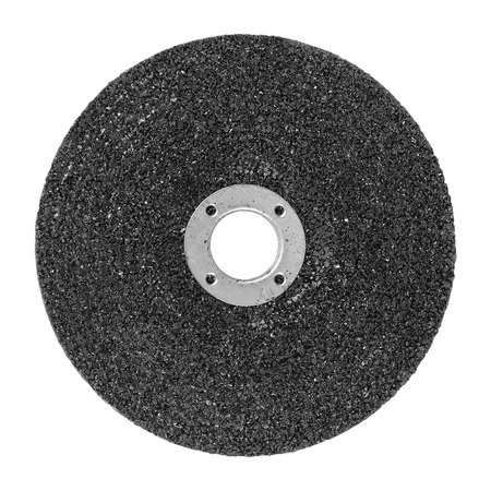 stainless steal: Abrasive disk drinding wheel isolated on white Stock Photo