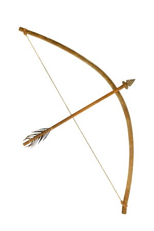 Old Bow isolated on white background