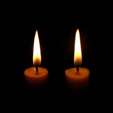 candle flame: candle flame at night closeup Stock Photo