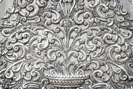 l plate: Engraved metal oriental texturepattern background