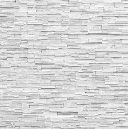pattern of decorative slate stone white wall surface Stock Photo - 51521311