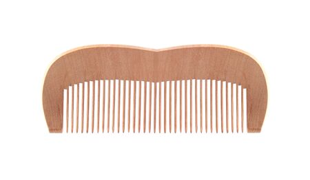 comb: Wooden comb isolated on white background