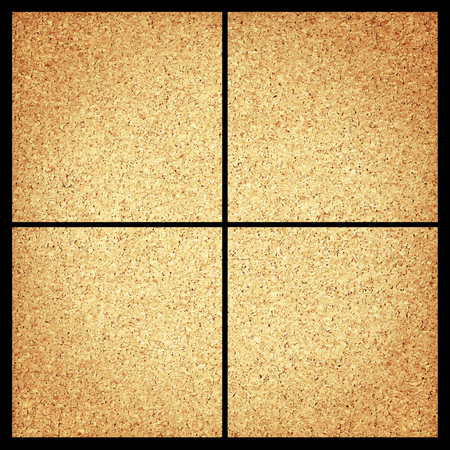 section: Cork board section background Stock Photo
