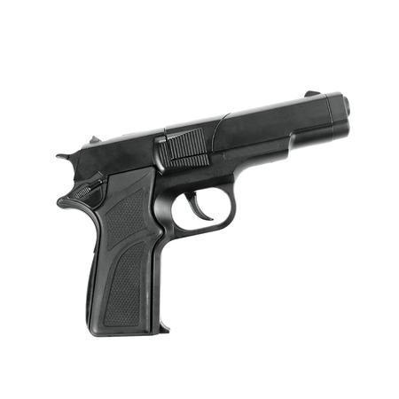 pistola: juguete réplica de pistola  armas de fuego falsas aislados en blanco