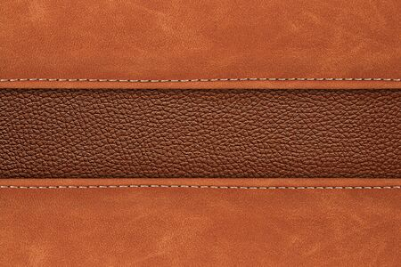 stitched: stitched leather background brown colour background