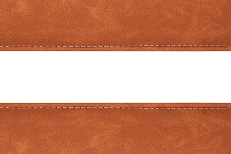 background brown: stitched leather background brown colour on whith background