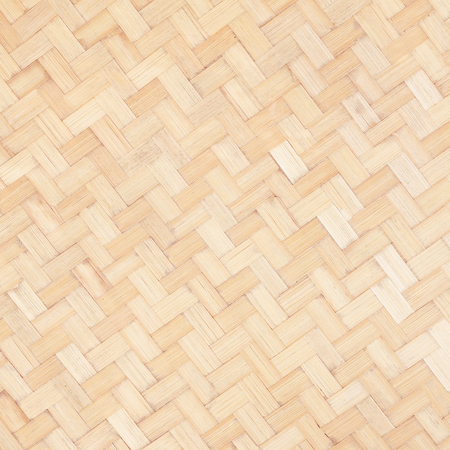 brown: close up woven bamboo pattern Stock Photo