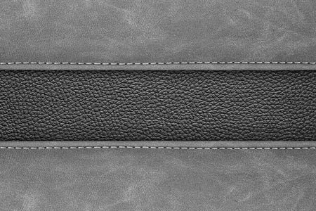 stitched leather background gray dark colour background 写真素材