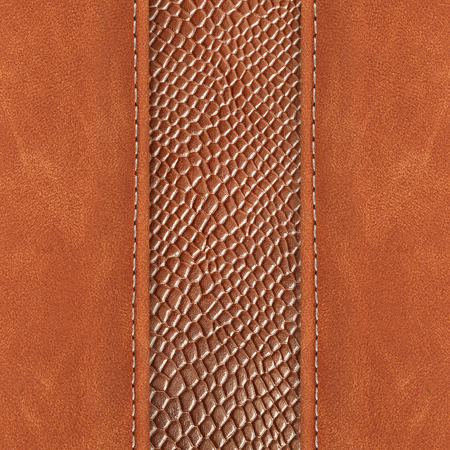 leather background: stitched leather background brown colour on whith background