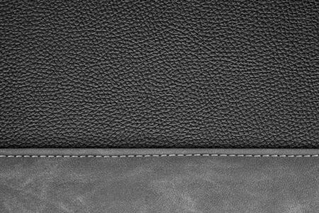leather background: stitched leather background gray and black colors