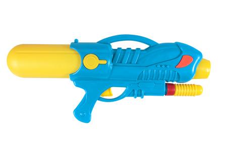 watergun: Plastic water gun isolated over white