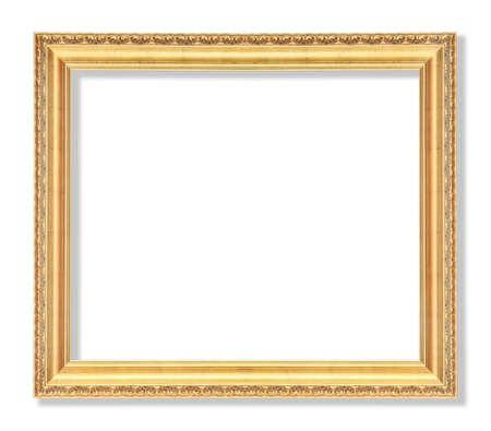 old picture: Old picture frame on white background.