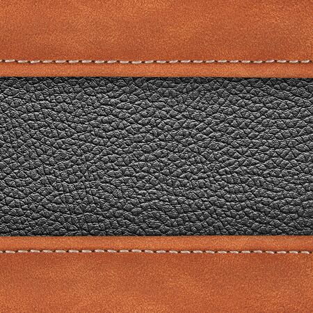stitched: stitched leather background gray dark colour background Stock Photo