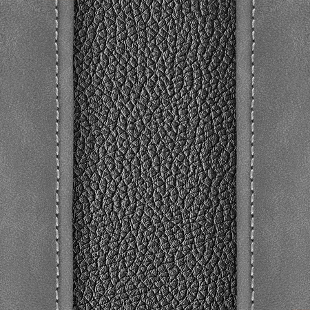 leather background: stitched leather background gray dark colour background Stock Photo