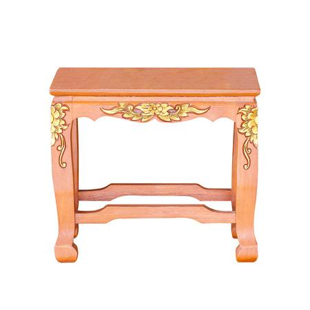 arredamento classico: Piccolo antico tavolo di legno isolata Archivio Fotografico