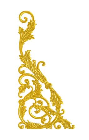 conner: Ornament elements, vintage gold floral designs