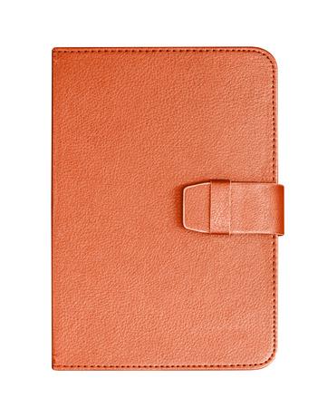 imitation leather: leather notebook isolated on white background