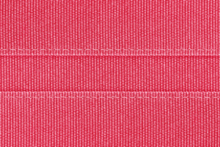 seam: red fabric with seam background Stock Photo