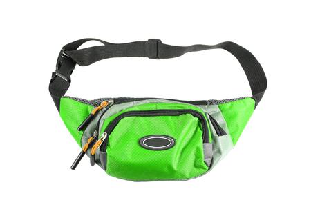 groene taille zak op een witte achtergrond.