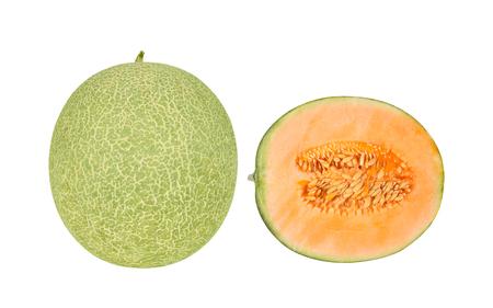 melon fruit: melon fruit on white background Stock Photo