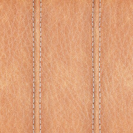 leather background: stitched leather background brown colour
