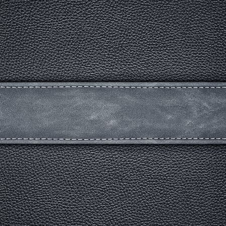 leather background: stitched black leather background