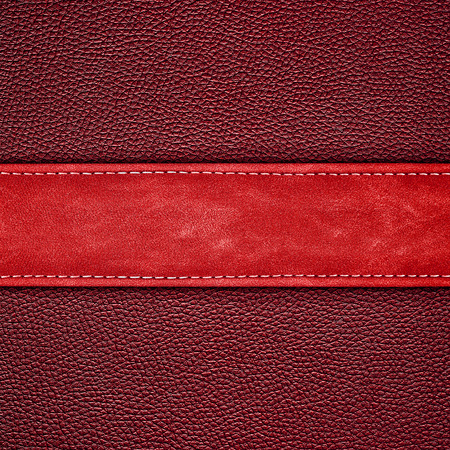 red leather: stitched red leather background