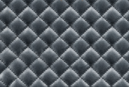 black leather texture: black leather background , leather stitching texture Stock Photo