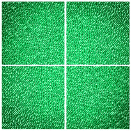 composit: green leatherette dot background Stock Photo