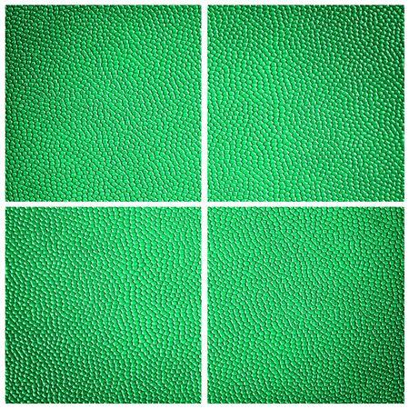 leatherette: green leatherette dot background Stock Photo
