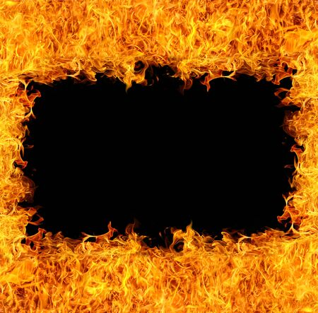 fiery: Fire and flame frame