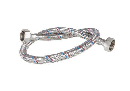 Flexible metal hose isolated
