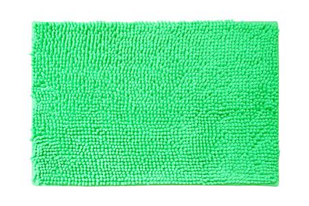 welcome mat: green doormat idolated Stock Photo