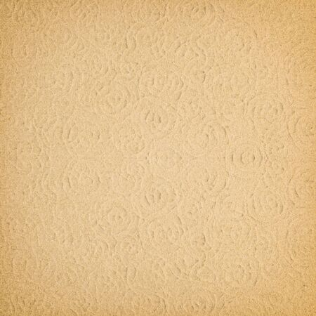 rusty background: brown paper with decorative pattern for background Stock Photo
