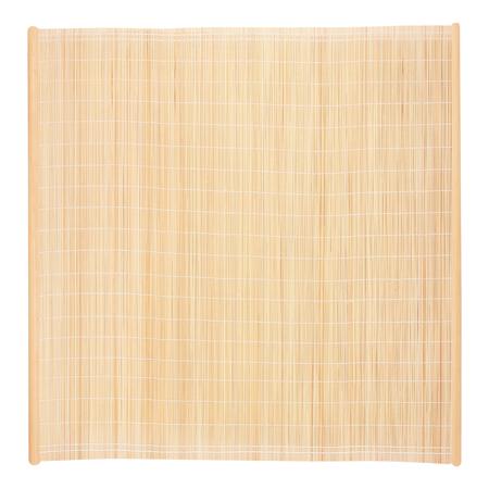 bamboe blind frame met touw geïsoleerd op een witte achtergrond Stockfoto