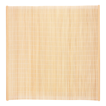 bamboo blind frame with rope isolated on white background