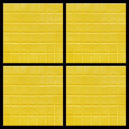 Golden or yellow Artificial Leather Texture space background Stock Photo - 90991606