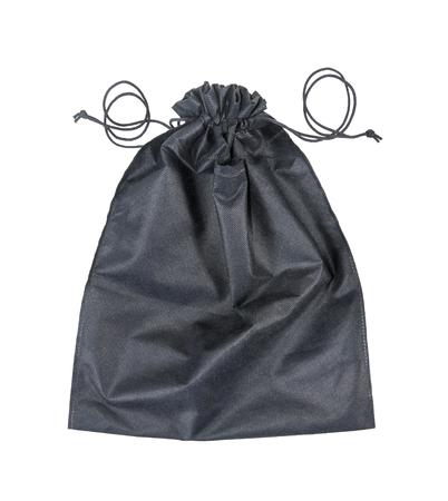 Black bag isolated on white background Stock Photo