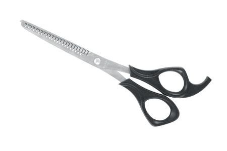 Special scissors for work of hairdresser isolated on white background