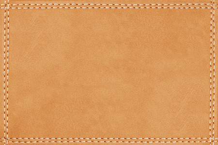 stitched leather seam frame brown color texture background Banco de Imagens - 102152524