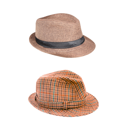 two hat isolated on white background with clipping path Stock Photo