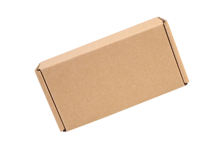 cardboard box isolated on white background with clipping path