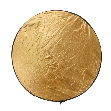 Reflector Gold light for photography Isolated with clipping path