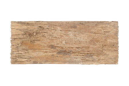 Old wood, decay  isolated on white eith clipping path