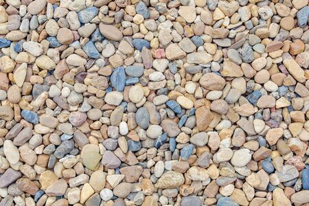 mix color of gravel texture abstract background Banco de Imagens - 124972430