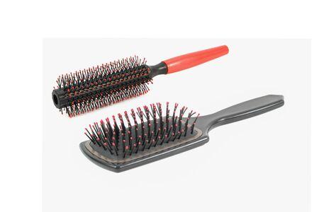 hair brush isolated on white background