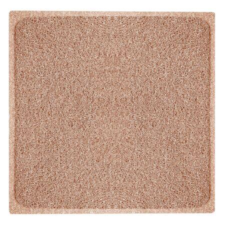 alfombra marrón aislado sobre fondo blanco