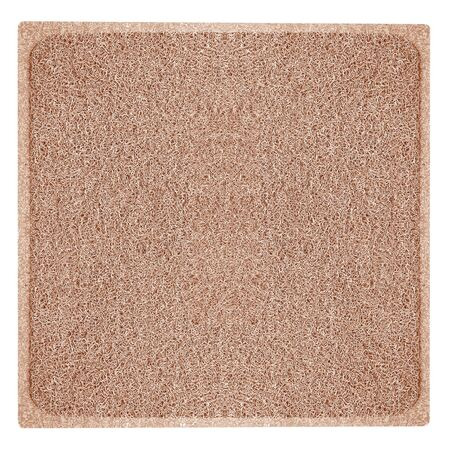 brown mat isolated on white background