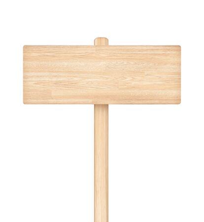 Drewniany znak na białym tle Zdjęcie Seryjne