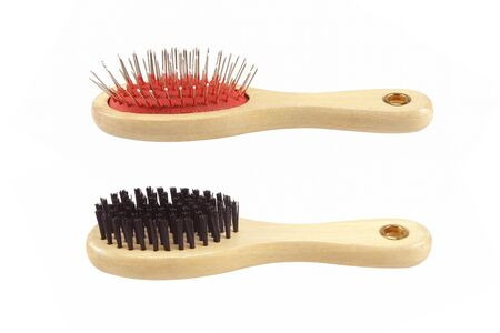 Two Hair brush isolated on white